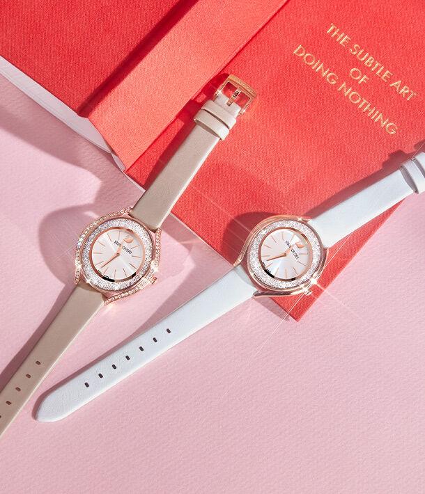 watch, swarovski, crystal, crystalline