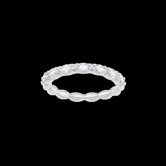 خاتم VITTORE MARQUISE، أبيض، مطلي بالروديوم
