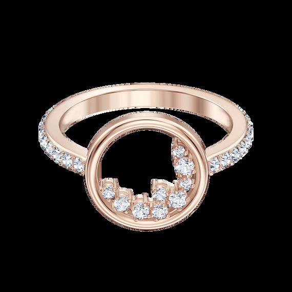 خاتم North Motif ، أبيض ، مطلي باللون الذهبي الوردي