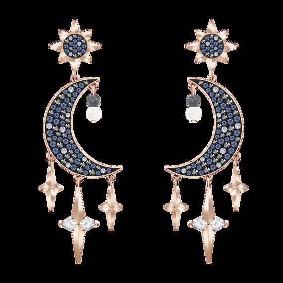 أقراط الأذن المثقوبة Symbolic من سواروفسكي على شكل طوق ، متعددة الألوان ، من المعادن المختلطة