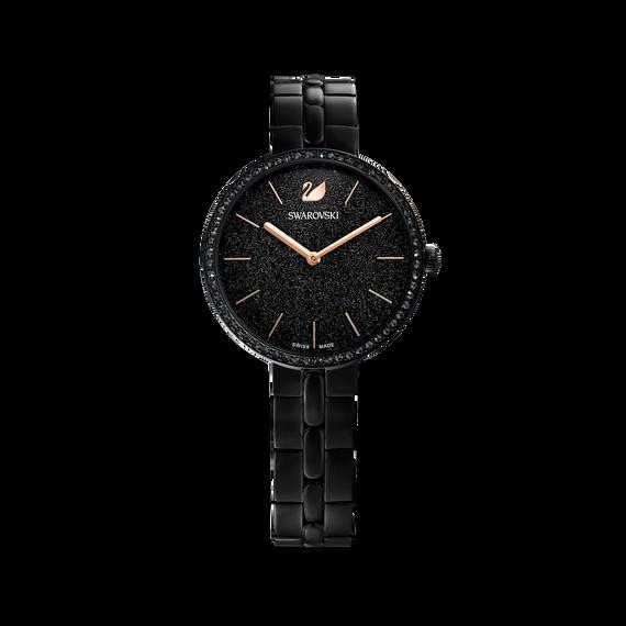 ساعة Cosmopolitan، سوار معدني، أسود، طلاء PVD أسود