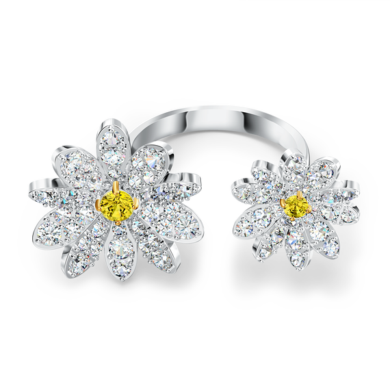 خاتم مفتوح Eternal Flower، أصفر اللون مع طبقة خارجية معدنية مختلطة