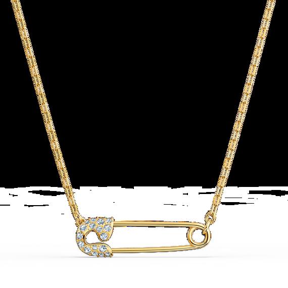 سلسلة So Coolمع دبوس، بيضاء اللون، مطلية باللون الذهبي