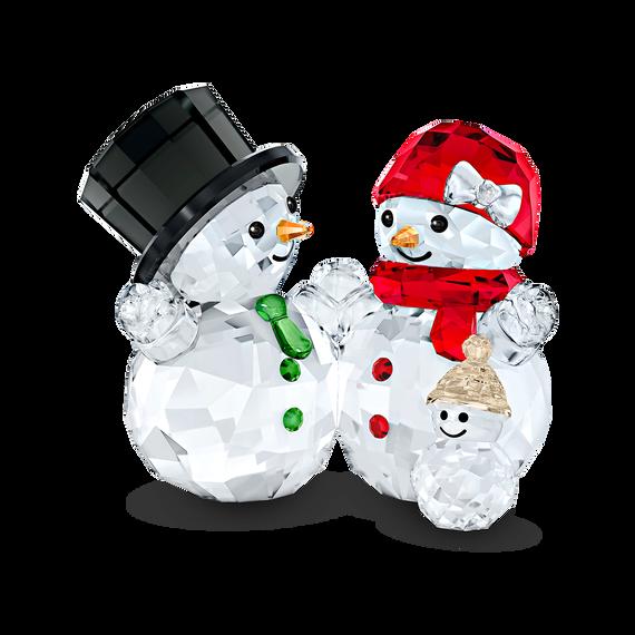 قطعة زينة على شكل أسرة الرجل الثلجي