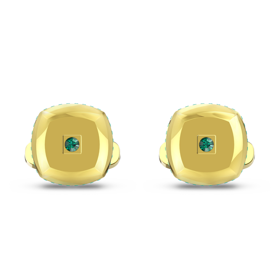 أزرار أكمام Theo، عنصر الأرض، لون أخضر، طلاء ذهبي