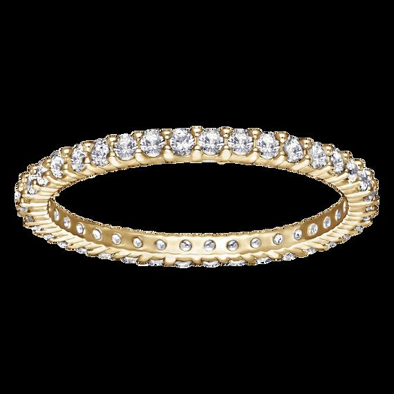 خاتم Vittore ، أبيض ، مطلي باللون الذهبي