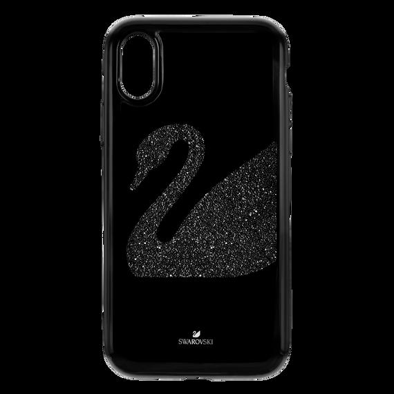 غطاء هاتف ذكي Swan Fabric بمصد مدمج،iPhone® XR ، أسود