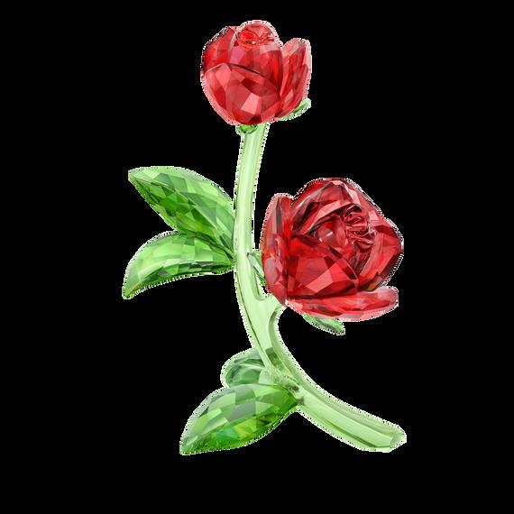 قطعة زينة على شكل زهرة حمراء