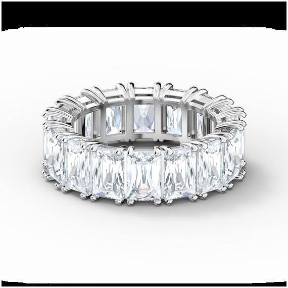 خاتم Vittore عريض، لون أبيض، طلاء روديوم