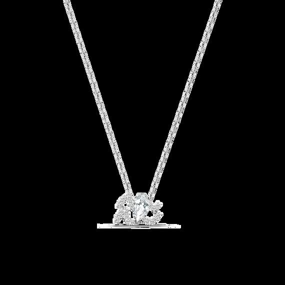 حلية متدلية Zodiac II، برج الدلو، لون أبيض، لمسة نهائية من معادن مختلطة