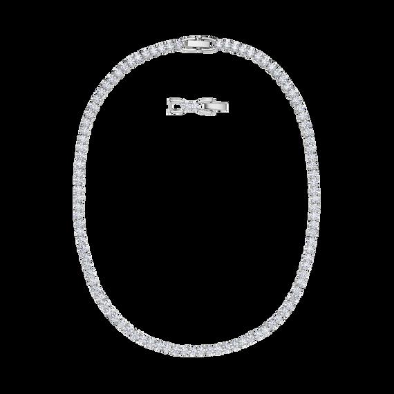 عقد Tennis Deluxe  ، أبيض ، طلاء روديوم