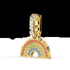 تميمة قوس قزح من مجموعة Swarovski Remix، متعدد الألوان الفاتحة، مطلي باللون الذهبي
