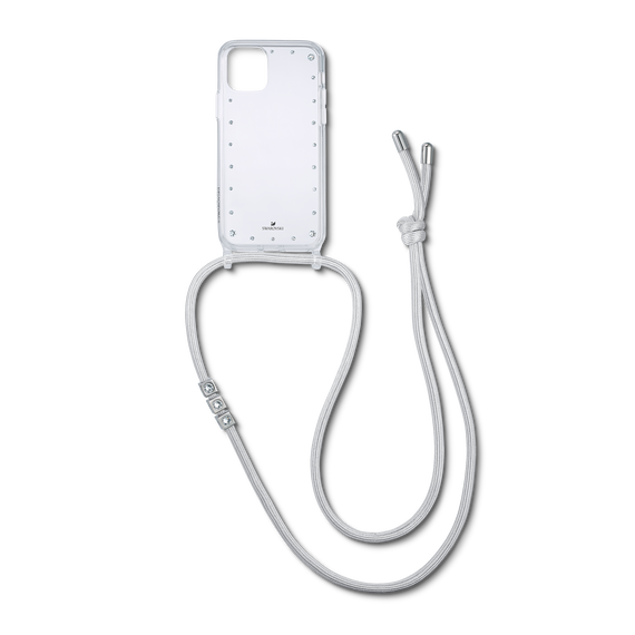 قلادة بها حافظة للهاتف الذكي مزودةٌ بمصدٍّ مُمتصٍّ للصدمات، iPhone® 11 Pro، لون أبيض