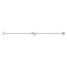سوار حامل لشكل يعسوب من مجموعة Swarovski Remix، أبيض اللون، مطلي بالروديوم