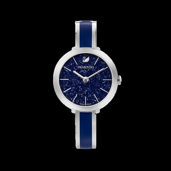 ساعة Crystalline Delight، سوار معدني، لون أزرق، ستانلس ستيل