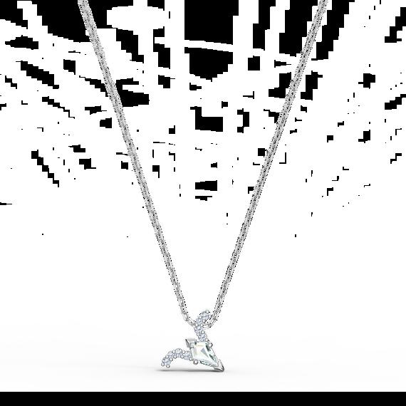 حلية متدلية Zodiac II، برج الحمل، لون أبيض، لمسة نهائية من معادن مختلطة