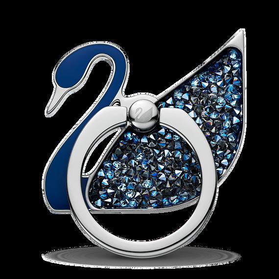 ملصق دائري على شكل بجعة، أزرق اللون، مصنوع من الإستانليس ستيل