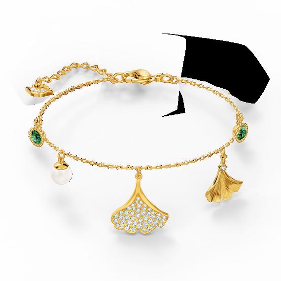 إسوار Stunning Ginko، أخضر اللون، مطلي باللون الذهبي