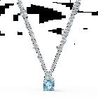 تعليقة Sparkling، ذات لون أزرق مائي، مطلية بالروديوم