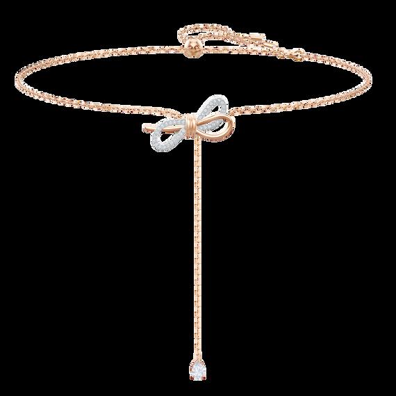 عقد Lifelong Bow على شكل حرف Y، أبيض، بطلاء مختلط