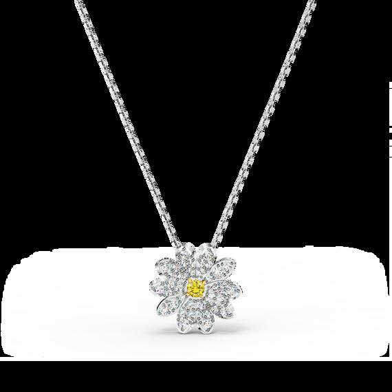 تعليقة Eternal Flower، صفراء اللون مع طبقة خارجية معدنية مختلطة