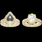 طقم خاتم Tarot Magic ، متعدد الألوان ، مطلي باللون الذهبي