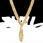 تعليقة Stunning Ginko على شكل زيتونة، بيضاء اللون، مطلية باللون الذهبي