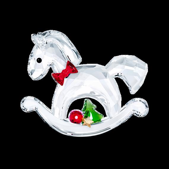 زينة على شكل الحصان الهزاز - Happy Holidays