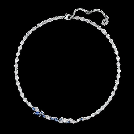 سلسلة Louison، زرقاء اللون، مطلية بالروديوم