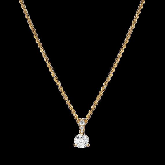 تعليقة Solitaire بيضاء اللون، مطلية باللون الذهبي