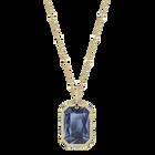 قلادة Tarot Magic، أزرق ، مطلية باللون الذهبي