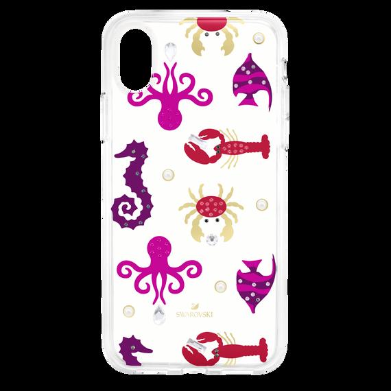 غطاء هاتف ذكي Sea Life بمصد مدمج ، iPhone® X / XS ، شفاف
