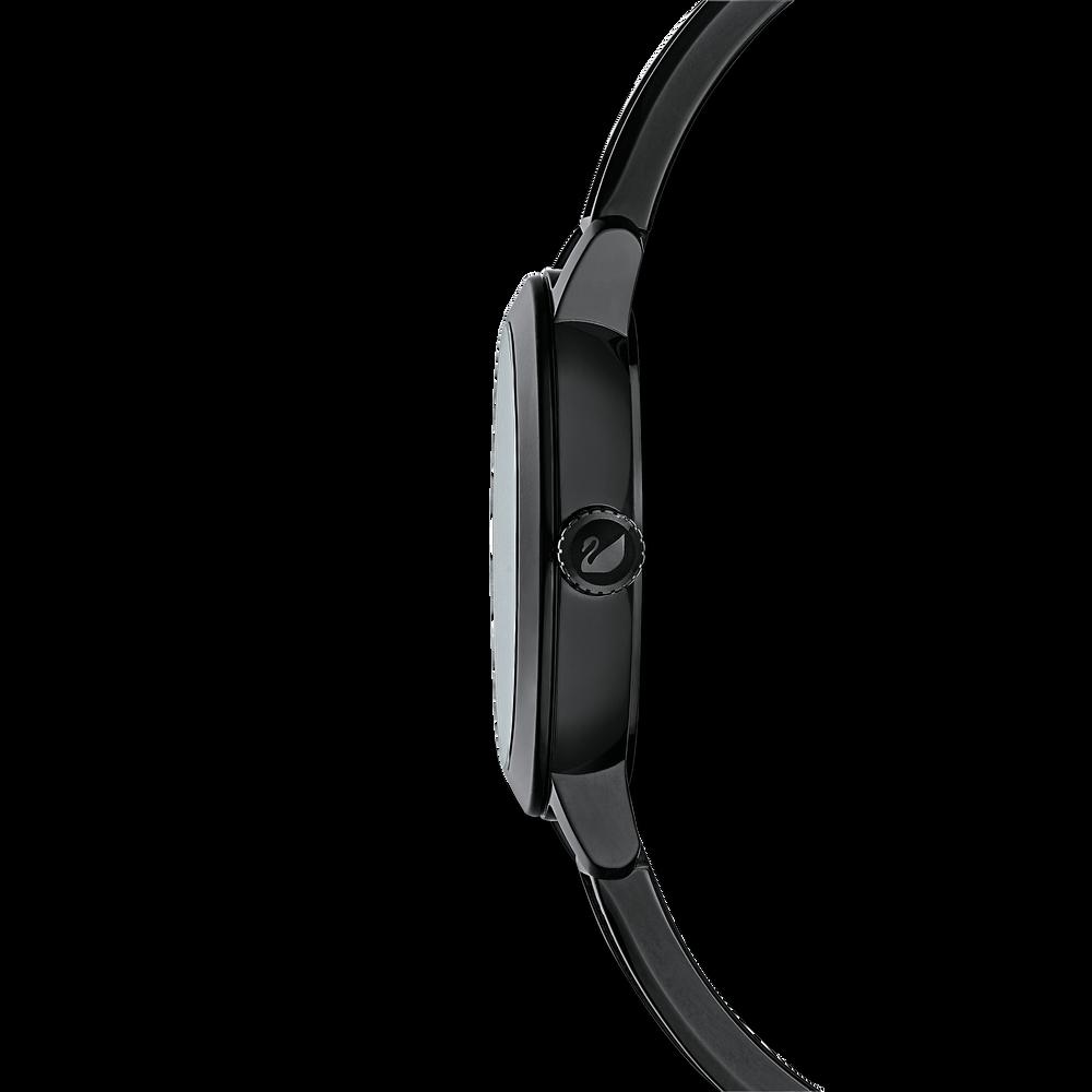 ساعة Cosmic Rock، بسوار معدني، سوداء، بلون أسود
