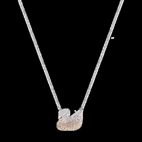 قلادة Iconic Swan بحلية متدلية، متعددة الألوان، طلاء روديوم