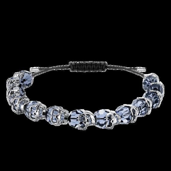 Taddeo Bracelet, Blue, Ruthenium plated