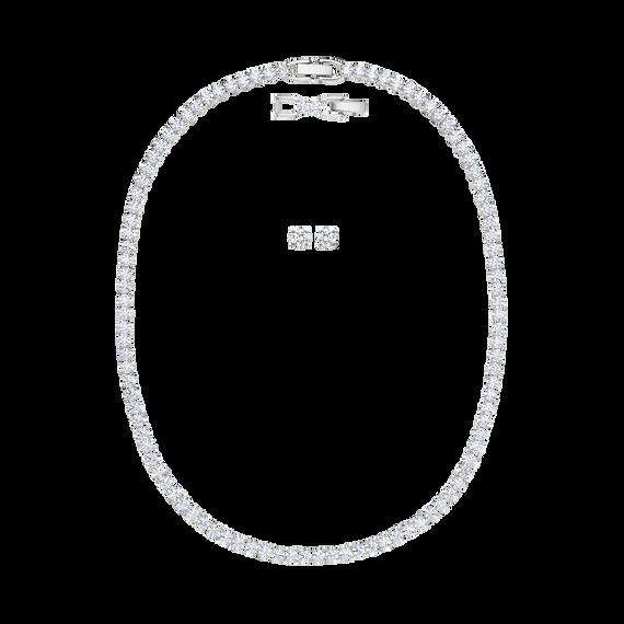 طقم Tennis Deluxe، لون أبيض، طلاء روديوم