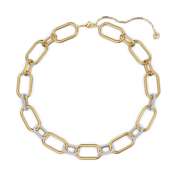 قلادة Time، لون أبيض، لمسة نهائية من معادن مختلطة