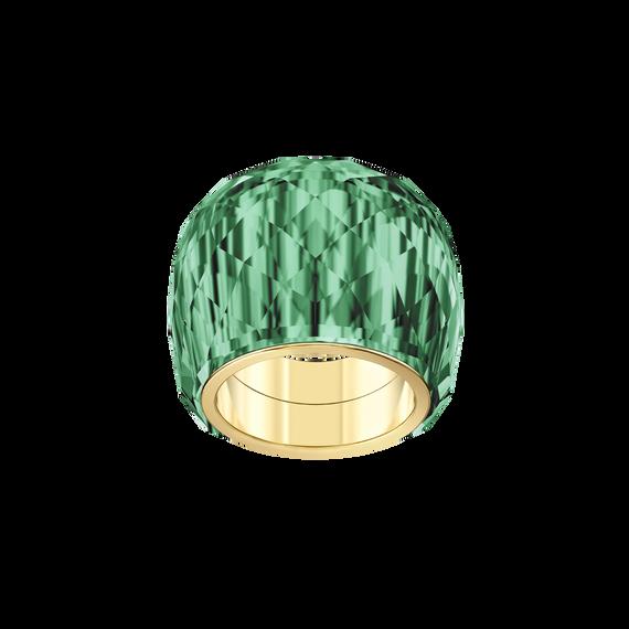 خاتم Nirvana ، أخضر ، لون ذهبي PVD