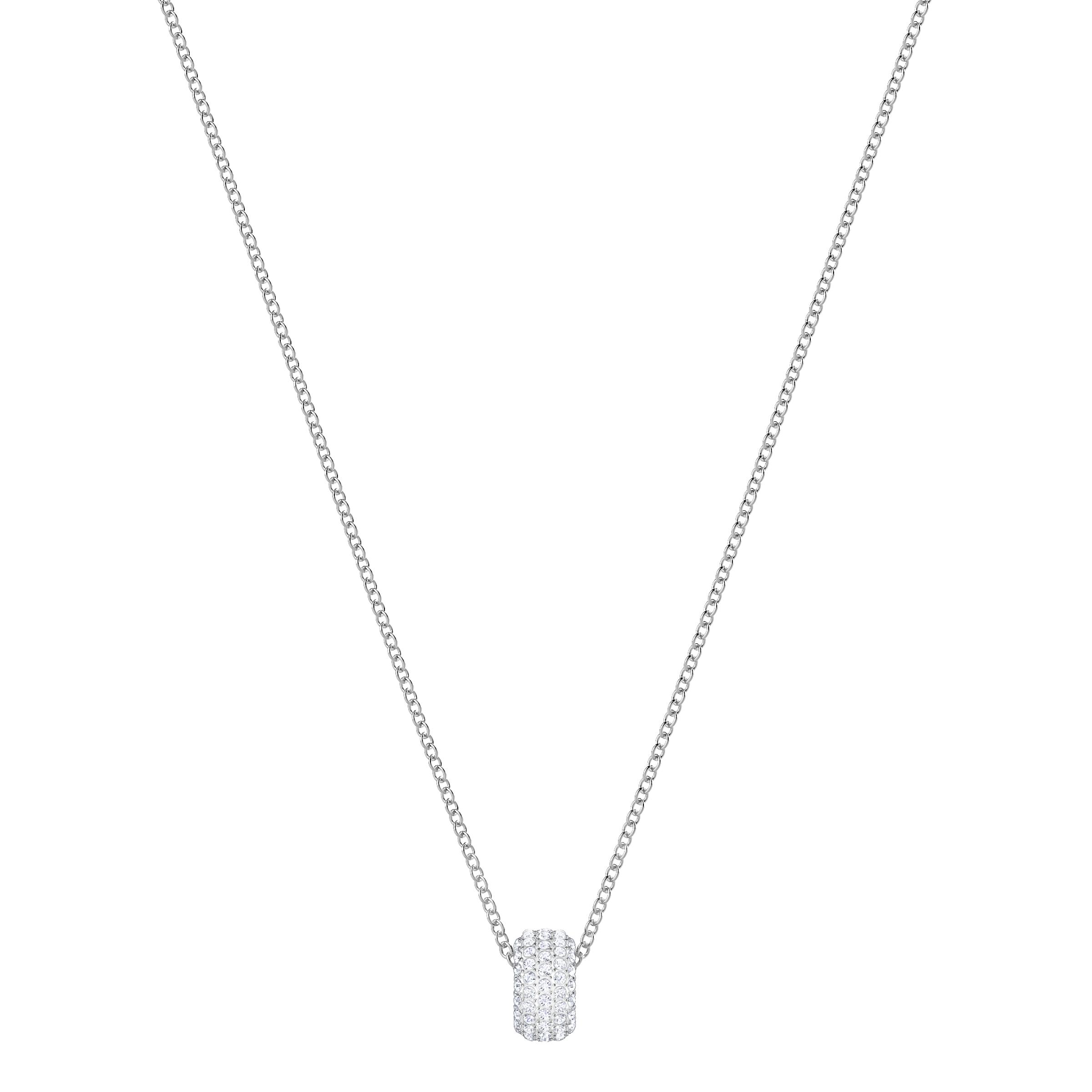تعليقة Stone دائرية الشكل، بيضاء، بطلاء من الروديوم
