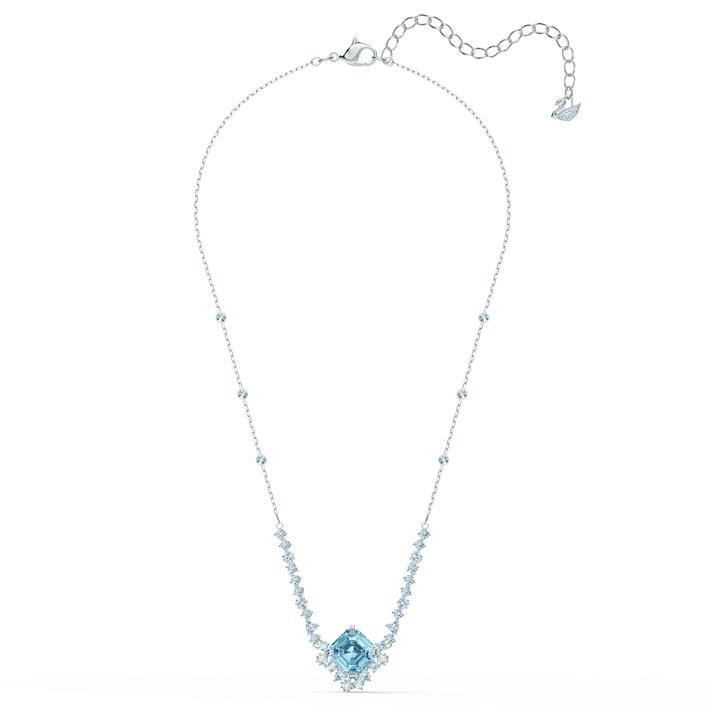 سلسلة Sparkling، ذات لون أزرق مائي، طلاء روديوم