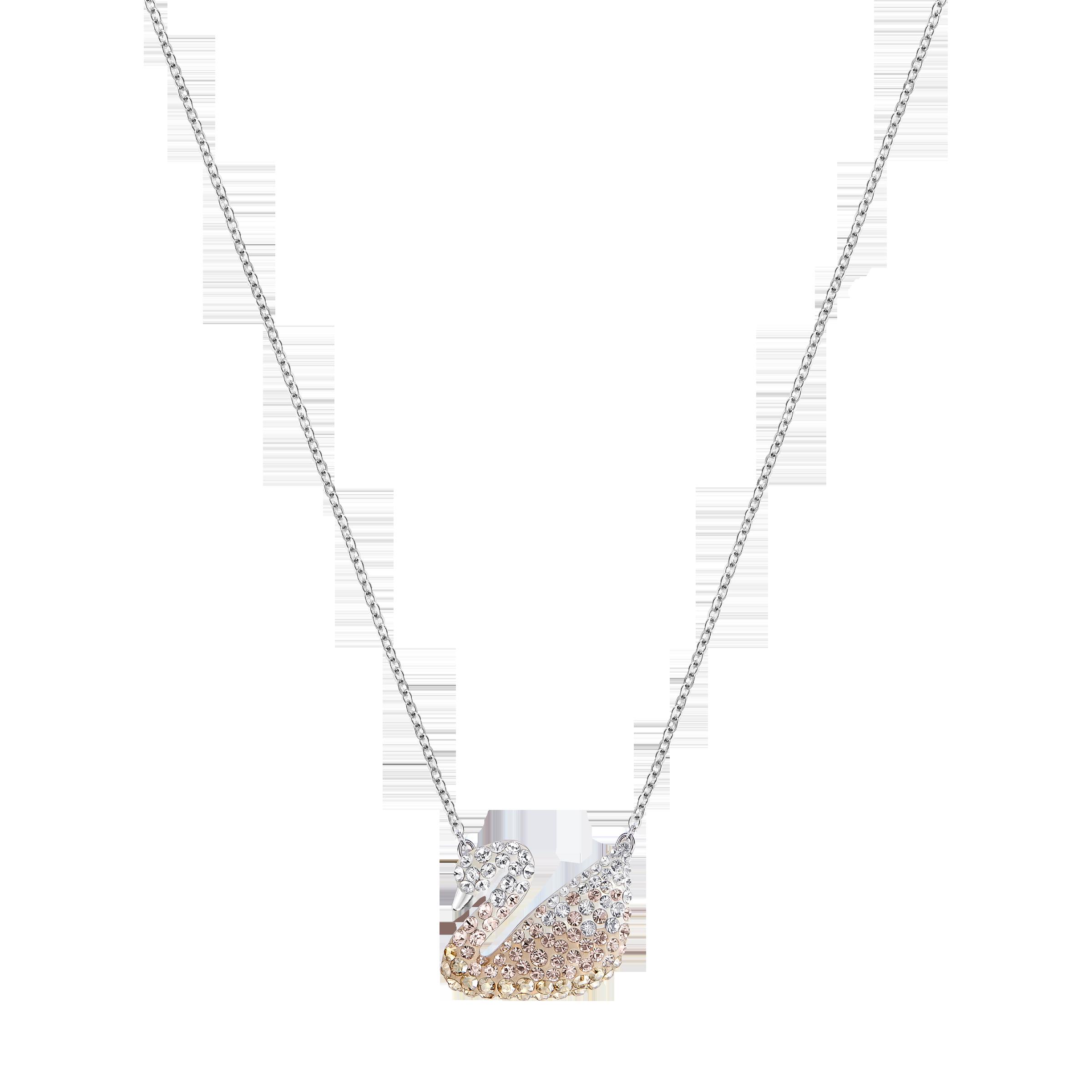 تعليقة Iconic Swan، متعددة الألوان، بطلاء من الروديوم